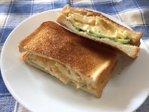 夏休み子供と楽しむタマゴサンド〜包丁を使わずに作れるよ!