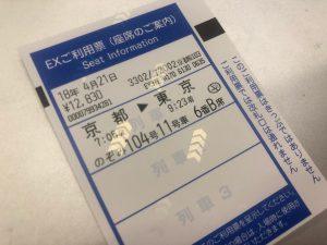 EXプラスカード1枚で新幹線に乗れる!と、大きな勘違いをしていた私